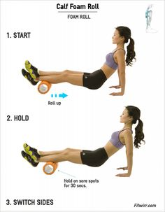 Calf Foam Roll | Fitwirr.com | Foam roll your calf muscles to relieve tension and soreness.
