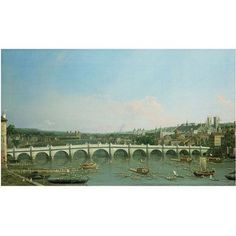 Trademark Art Westminster Bridge Canvas Art by Canaletto, Size: 18 x 32, Multicolor