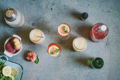 Summer Cocktails: Peach Yogurt Soju and Ginger-Plum Kombucha Cocktail