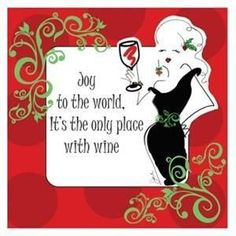 """The Joy to the World Holiday Cocktail Napkins add tofun toa Christmas party with the saying Joy to the world - It's the only place with wine. Thesecolorful Christmas wine napkins are 3-ply 5"""""""" x 5"""""""