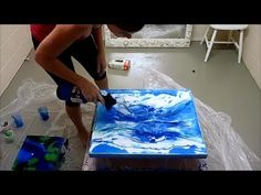 How to demo of Abstact Resin Art Process by Jodie from Picturesque Resin...