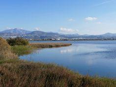 Salt lake near the Naxos airport, Greece photo by Ηλιασ Greek Islands, Rivers, Lakes, Greece, Salt, Mountains, Travel, Beautiful, Greek Isles