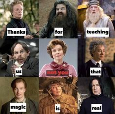 Thanks for teaching us not you that magic is real