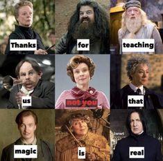 Obrigado por nos ensinar (você não) que a magia é real