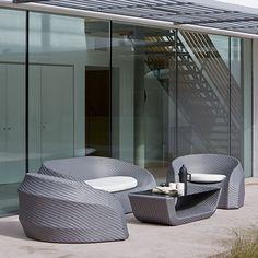 Contour Outdoor Lounge Suite from Bluesuntree Lounge Suites, Beautiful Interior Design, Outdoor Garden Furniture, House Extensions, Outdoor Lounge, Contemporary Style, Contour, Patio, Garden Ideas