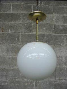 Mid Century Mod Globe Pendant Light Fixture Second Use Seattle Building Materials Salvage Deconstruction