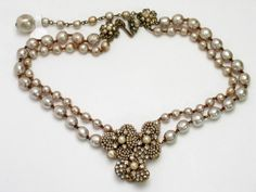 Miriam Haskell Signed Necklaces