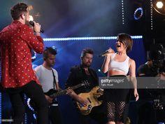 Singer-songwriters Thomas Rhett and Maren Morris perform during day 3 of the 2017 CMA Music Festival on June 10, 2017 in Nashville, Tennessee.