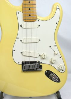 1988 E-Series American Fender Stratocaster Plus with maple neck, three gold Lace Sensor pick ups, Schaller locking tuners, Wilkinson split roller nut. Manufactured Corona Factory, Los Angeles, California