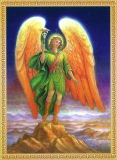 Arcanjo Rafael da cura Toda angustia que sentimos ao procurar o Pai Celestial em todo canto e voltar sempre com meias verdades, mas feliz é aquele que volta, com mais sede de paz e de amor! Marlon Ferreira