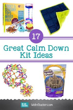 17 Great Ideas for Your Classroom Calm Down Kit. Create an amazing classroom calm down kit for your students with these sensory and fidget products. They will help your students take a brain break. #calmdown #mentalhealth #classroommanagement #classroomsetup #socialemotionallearning #elementaryschool Calm Down Kit, Calm Down Corner, We Are Teachers, Classroom Behavior Management, Terrible Twos, Toddler Stuff, Social Emotional Learning, Brain Breaks, Classroom Setup