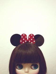 Blythe as Minnie mouse