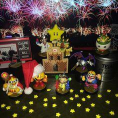 samuraigeezer: #celebrate #happyholidays #cheers #nintendo #amiibo #mario #supermario #gameandwatch #wario #kingdedede #bowser #pacman #pikmin #smashbros #wiiu #gameandwatch #microobbit