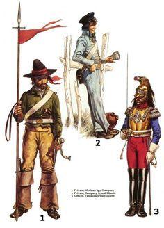 Osprey - Men at Arms 056 - The Mexican - American War 1846 - 48 Mexican Army, Mexican American War, American Civil War, American History, Army Uniform, Men In Uniform, Military Uniforms, Twilight Princess, Texas Revolution