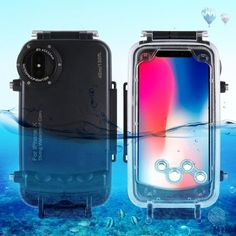 PULUZ for iPhone X XS Waterproof Diving Housing Case for Surfing Swimming Photo Video Taking Underwater Cover Office Gadgets, Cool Tech Gadgets, Latest Gadgets, Iphone Cases Cute, Underwater Photos, Mobile Phone Cases, Iphone Accessories, Cool Toys, Protective Cases