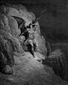 Images from Gustave Doré's illustrations to Milton's Paradise Lost.