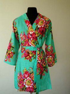 Bridesmaids robes, floral Bridesmaid robe, bridal party robes, wedding favors for bridesmaids and maid of honor, DD2