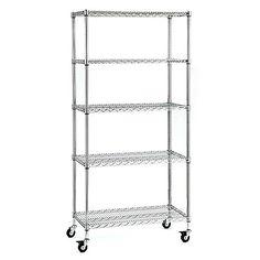 5 Shelf Heavy Duty Storage Rack Chrome Improvements https://www.amazon.com/dp/B004IZZ698/ref=cm_sw_r_pi_dp_x_Bt-BybXZWT7YX