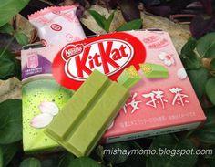 KitKat de Matcha y sakura (flor de cerezo)