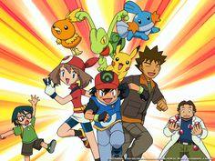 Pokemon - Brock, Ash, May, Max, Mudkip, Pikachu, Treecko, Torchic!