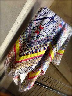 """JANE CARR"" Silk scarf"