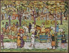Maurice Brazil Prendergast (American, 1858–1924). Central Park, ca.1914–15. The Metropolitan Museum of Art, New York. George A. Hearn Fund, 1950 (50.25)