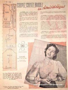 Understanding The Vintage Sewing Pattern - Sewing Method Vintage Diy, Mode Vintage, Vintage Dress Patterns, Clothing Patterns, Journal Vintage, Sewing Courses, Make Do And Mend, Crochet Hook Set, Dressmaking