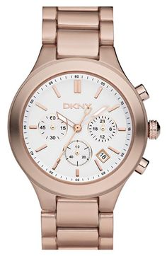 DKNY Large Round Aluminum Bracelet Watch available at #Nordstrom