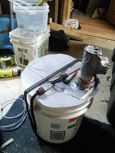 Picture of diy super easy small biogas methane plant