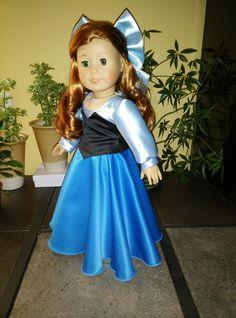 Disney Princess Ariel (Little Mermaid) Blue Dress outfit for American Girl Doll