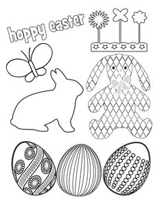 Free Easter Printables Kids Coloring Pages and Activity Sheets