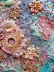 Mixed media art is to use every available means, paper, wood, fabric, seeds, paint, feather, found items... to create an infinite diversity of textures...