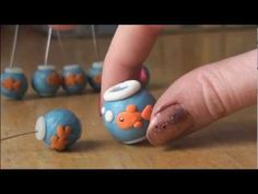 FISH BOWL - Polymer Clay Charm - How To - SoCraftastic - YouTube