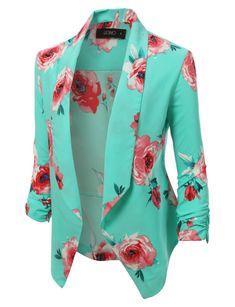 Open Front Floral Blazer Jacket - Haute Chic Boutique