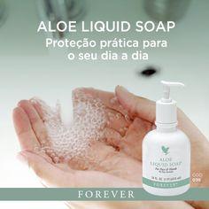 Produtos Forever: O Aloe Liquid Soap é um sabonete líquido perolado,...