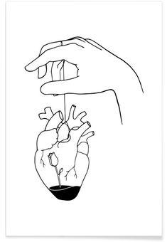 How Can You Mend a Broken Heart Poster How Can You Mend a Broken Heart as Poster by Ninhol Minimal Drawings, Sad Drawings, Pencil Art Drawings, Doodle Drawings, Art Drawings Sketches, Broken Heart Drawings, Broken Heart Art, Mending A Broken Heart, Broken Heart Wallpaper
