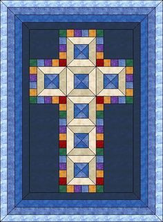 Image result for Christian Cross Quilt Free Downloadable Pattern