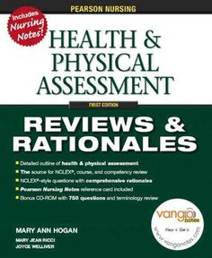 Pearson Nursing Reviews Rationales: Health Physical Assessment (Reviews and Rationales)