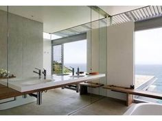 BareStone external cladding from CSR Cemintel has been unusually specified for the bathroom walls of an architecturally designed home on the south-coast in New South Wales.