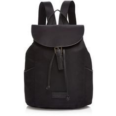 Liebeskind Stephi Backpack (12.010 RUB) ❤ liked on Polyvore featuring bags, backpacks, black, leather backpack bag, genuine leather backpack, leather backpack, leather rucksack and structured leather bag