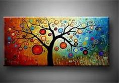 Modern Abstract Tree Art Oil Painting On Canvas In Paintings