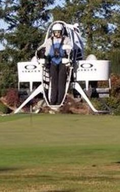We'll see your golf cart and raise you this flying golf jetpack
