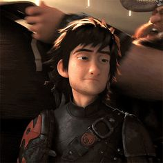Hiccup looks like me when I try not to cry or I'm around Mom...and DON'T want to be!