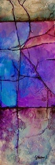 "CAROL NELSON FINE ART BLOG: Geologic Abstract Painting, ""Lavender Shale"" © Carol Nelson Fine Art"