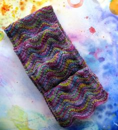 Simple ripple scarf using two skeins of Koigu.Tons of Koigu just arrived @Julie Forrest Forrest Brown Merryman Knits!