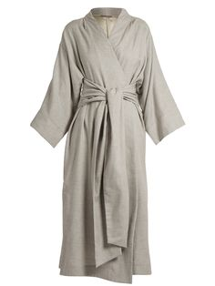 e9d55b4bfc Click here to buy Three Graces London Isabella kimono-sleeve cotton-blend  robe at