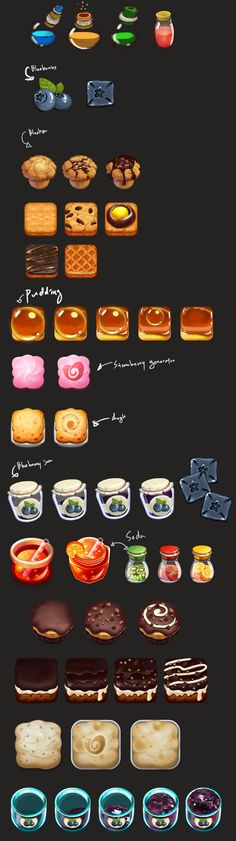 puzzle game_ blocker concept on Behance Game Gui, Game Icon, Dc Food, Food Art, Dessert Games, Site Art, Creating Games, Cookie Crush, Game Ui Design