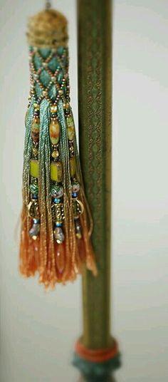 Green, Blue & Orange Tassel .....