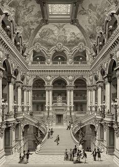 Jean-Joseph Sulpis - Palais Garnier, Grand Escalier d'Honneur, 1880