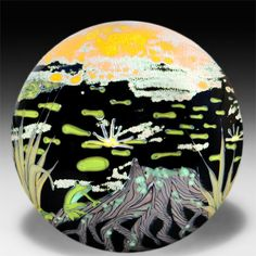 "Yaffa & Jeff Todd 2014 ""Wetlands"" paperweight"